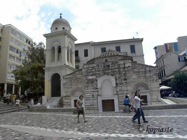 Monstiraki Square Pantanassa church