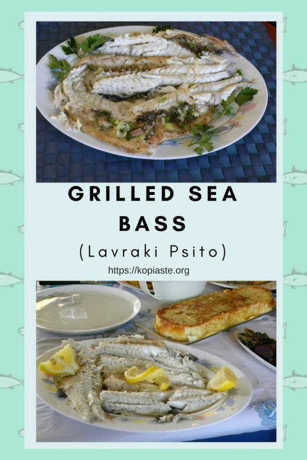 collage baked sea bass image