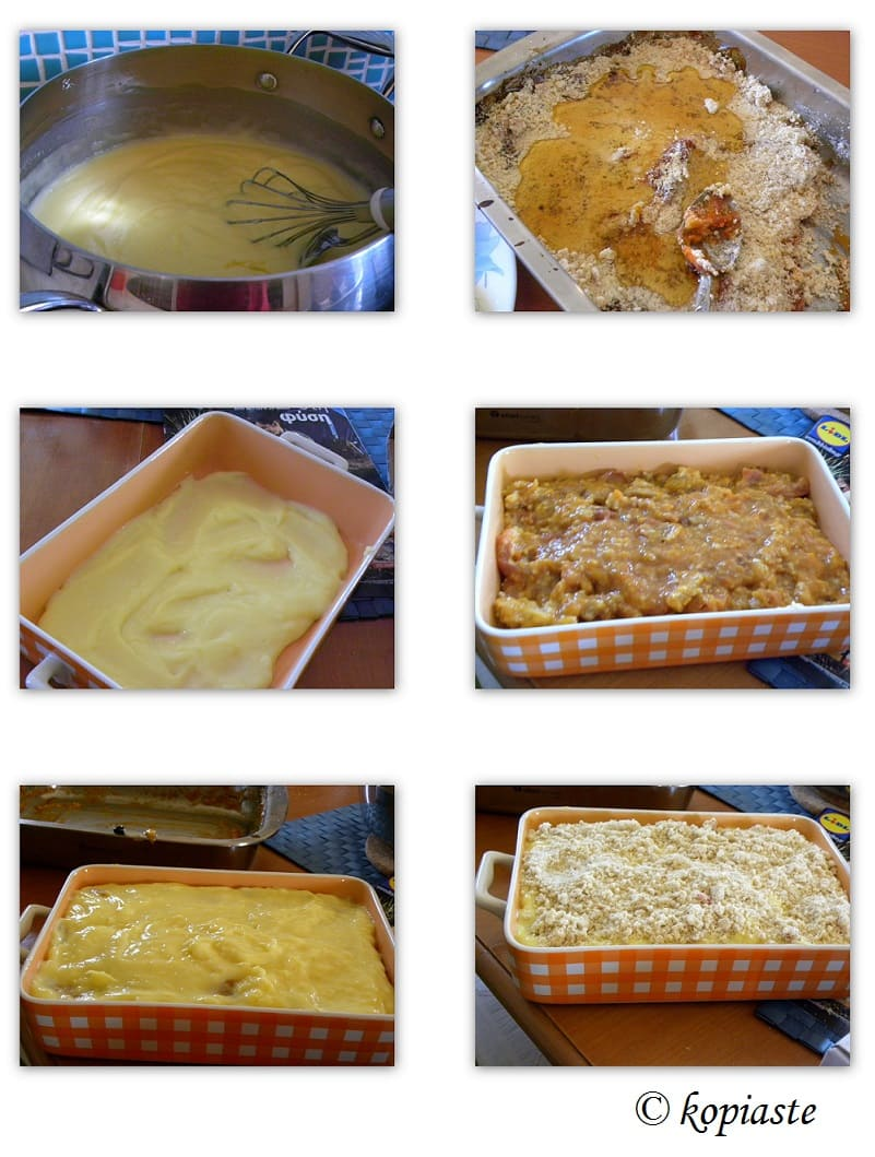Collage Peach and Apricot Crumble Pudding