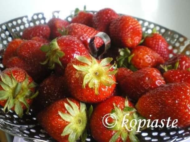 Strawberries in bowl image