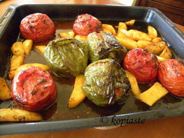 Gemista stuffed vegetables image