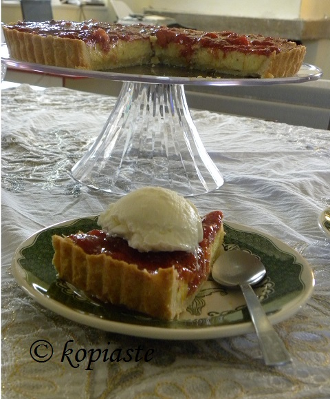 Fig and Peach Anthotyros Tart