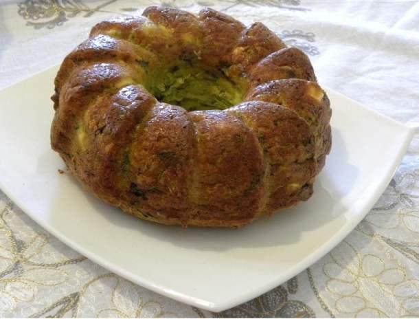 Greek Olive Oil Zucchini Cake with feta and kasseri image