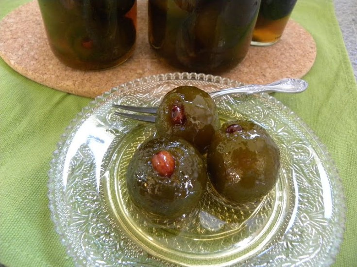 Kitromilaki or Nerantzi Glyko (Bitter Orange Spoon Sweet)