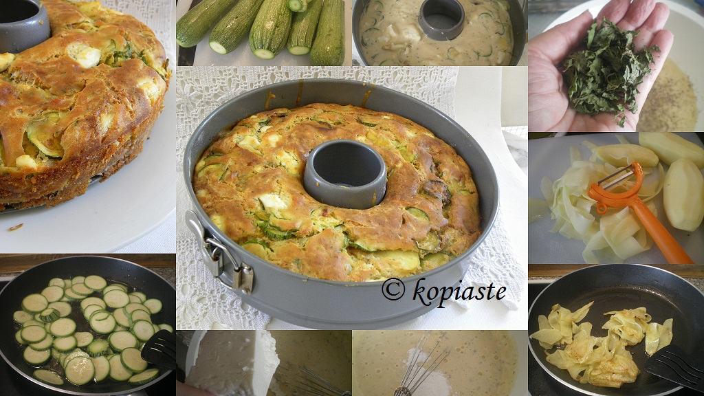 collage Zucchini & Potato Cake image