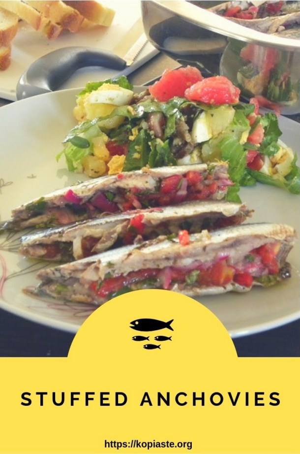Collage stuffed anchovies image