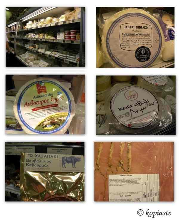 Collage cheeses charcuterie
