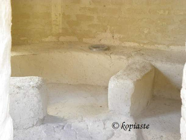 Interior of choirokoitia house