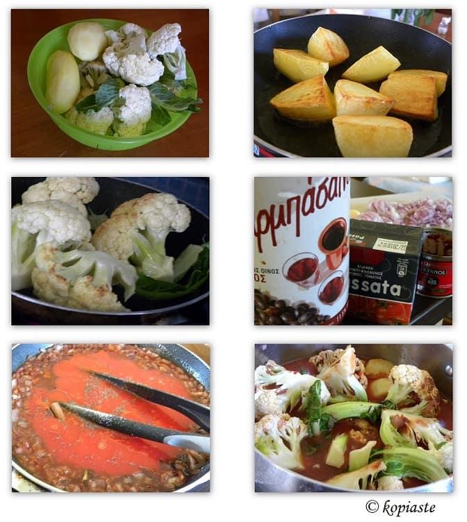 Collage Cauliflower Kapamas