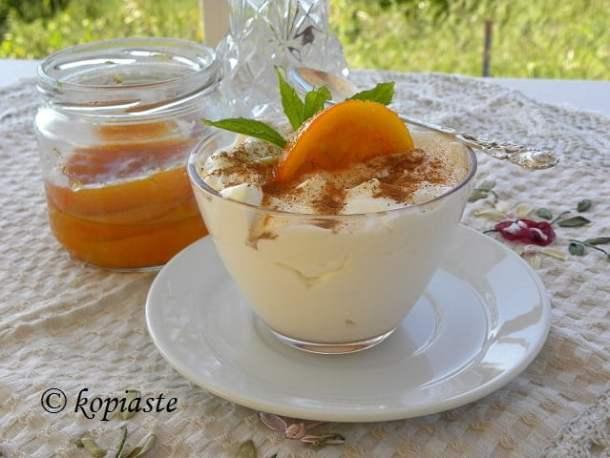 Orange yoghurt tutti frutti