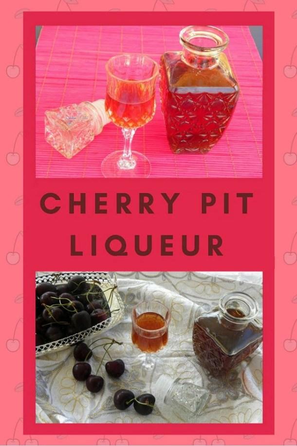 collage Cherry pit liqueur image