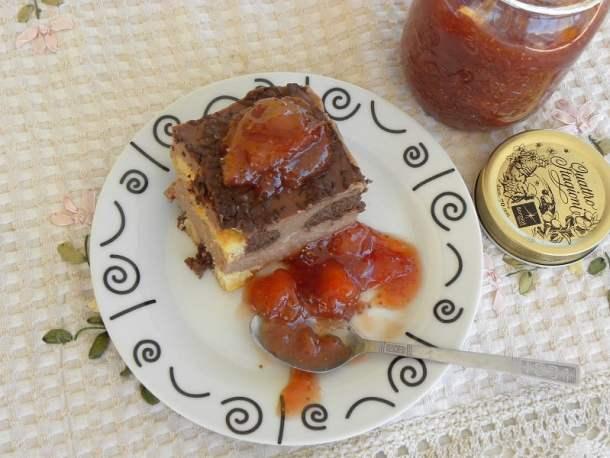 Dessert with jam image