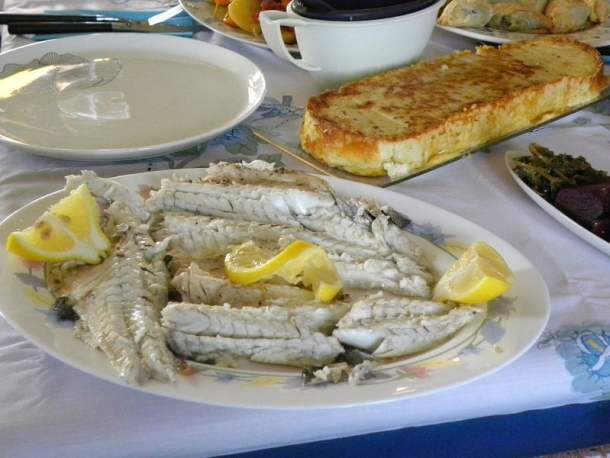 Baked fish with vegetables image