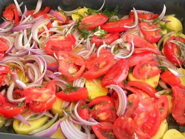 Preparing vegetables image
