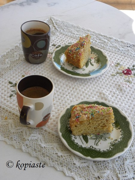 Butternut Squash Cake with Greek coffee