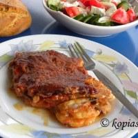 Eggplant – Potato Casserole Gratin with Feta and Mozzarella