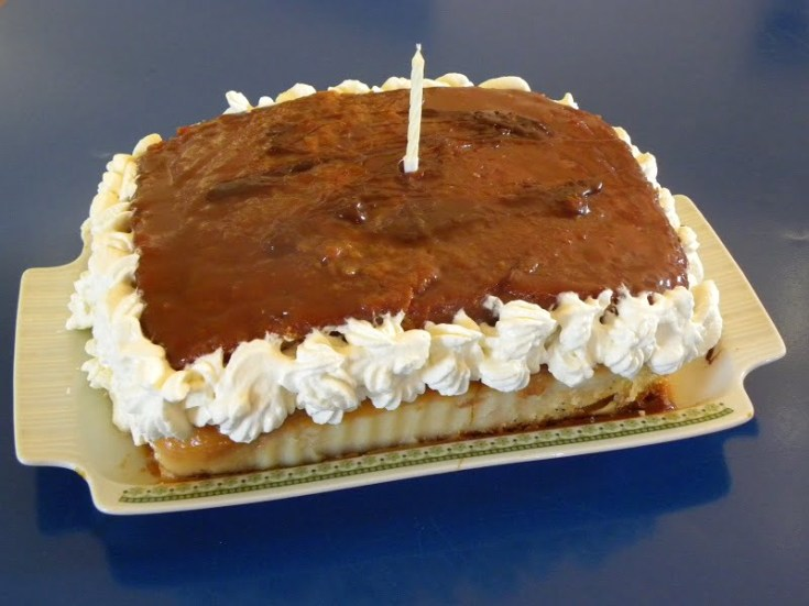 Salted Caramel Lemon Poppy Pound Cake