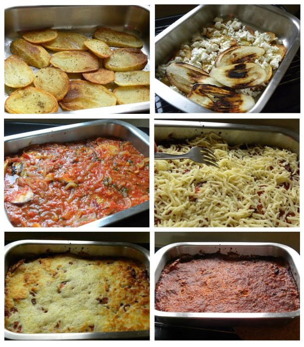 collage eggplants gratin image
