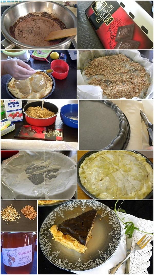 Baklavas Tart collage