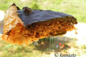 upside down baklavas tart