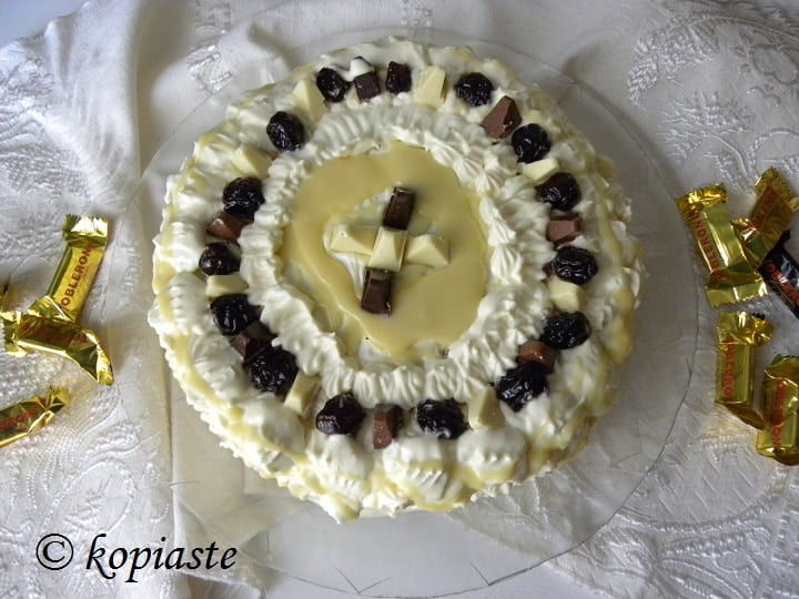 Toblerone Cake with Cream Cheese and White Chocolate