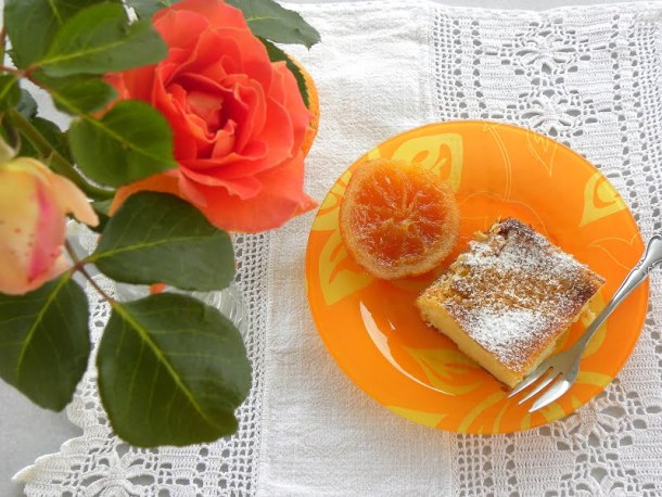 Galatopita with rose and orange picture