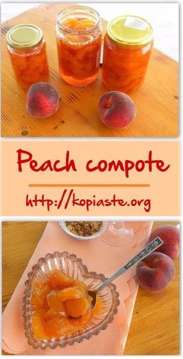 Collage Peach compote