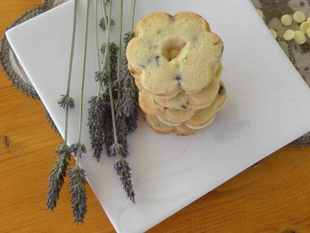 Lemon lavender and mint chocolate chip cookies photo