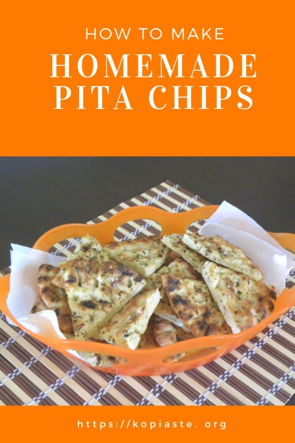 collage How to make Pita chips image