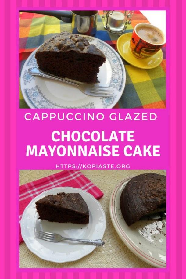 collage Cappuccino glazed Mayonnaise Cake image