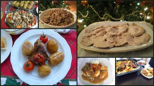 collage for five best Christmss recipes