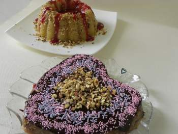 Halvas with strawberry and Chocolate