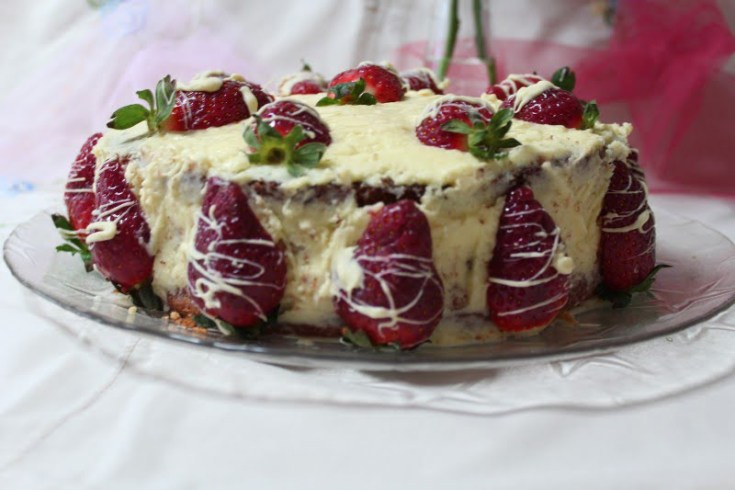Elia's Strawberry and White Chocolate Buttercream Cake