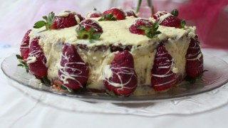 Elia's Strawberry and White Chocolate Buttercream Cake