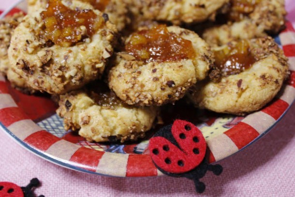 Thumbprint Cookies with Citrus marmalade photo