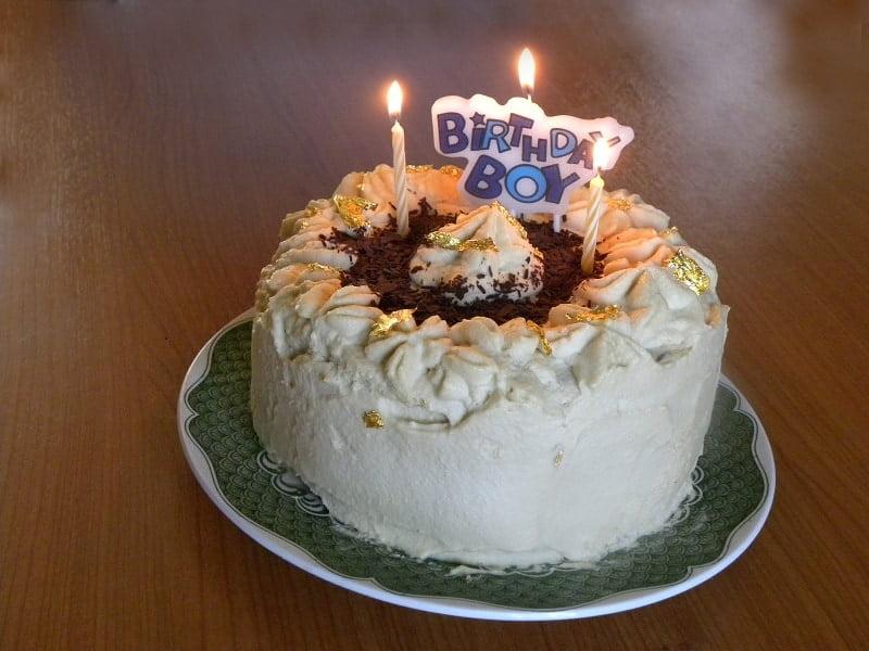 White Chocolate Mocha Mousse Angel Cake