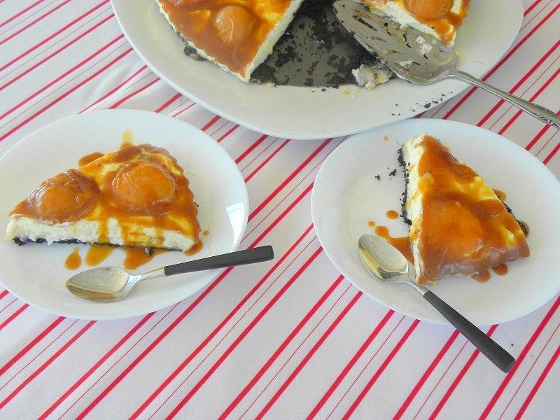 Apricot Salted Caramel Oreo Tart