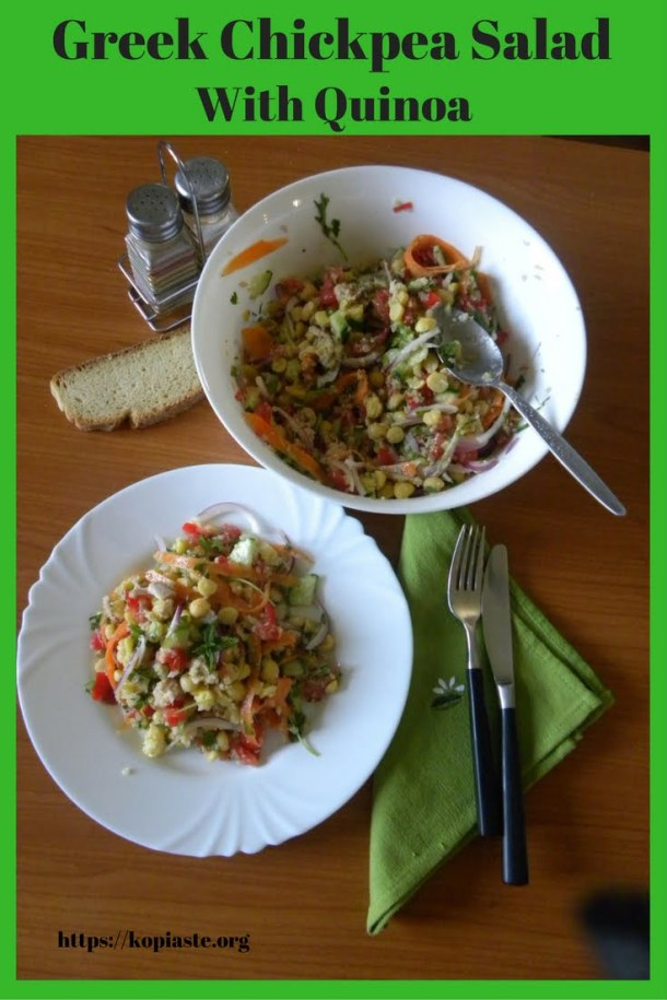 Healthy chickpea salad image