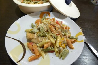 Light and Creamy Evaporated Milk Chicken with Penne