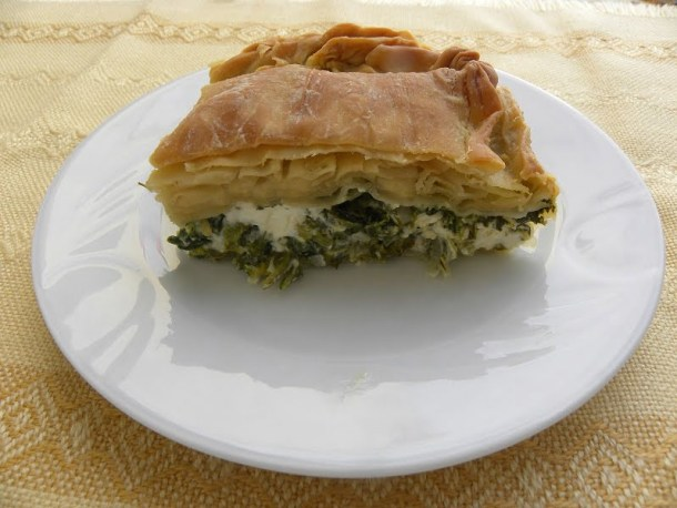 Greek Spanakopita cut image