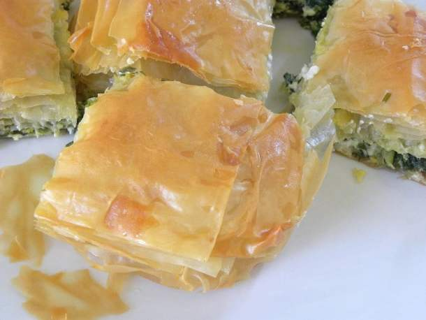Spanakopita with store bought phyllo kroustas image