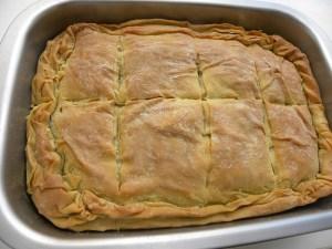 Greek spanakopita spinach pie image
