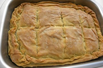 Greek spanakopita spinach pie image