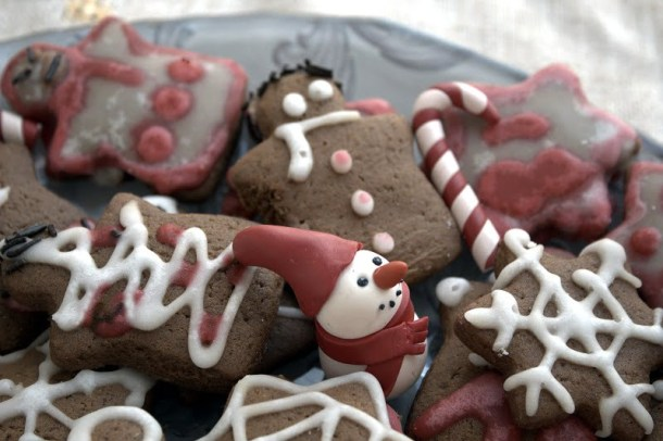 Red gingerbread man image