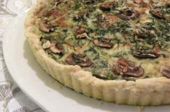 spinach and mushroom tart photo