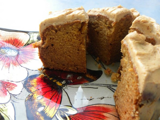 Apple and Carrot Cake Cut photo