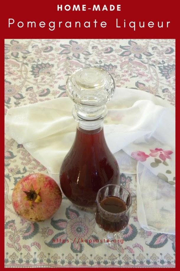 Pomegranate liqueur Pinterest image