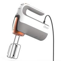 Oster 270-Watt Hand Mixer with HEATSOFT Technology and Whisk, Dough Hooks, and Storage Case