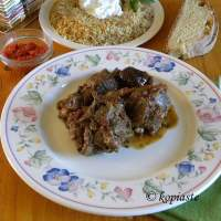 Arni me Melitzanes sti Gastra (Greek Lamb and Eggplant Casserole)