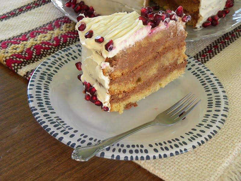 Pomegranate chocolate cake image